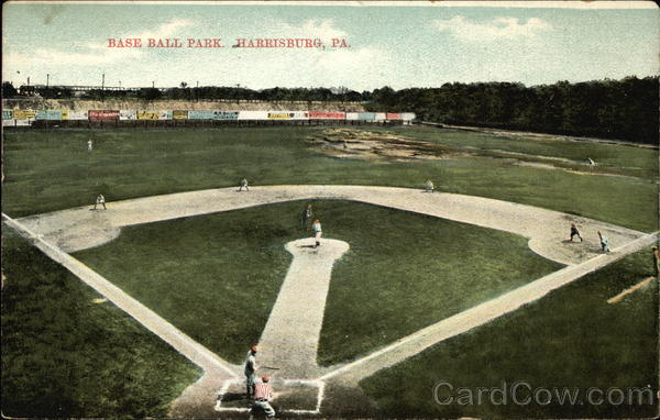 Bird's Eye View of Baseball Park Harrisburg Pennsylvania