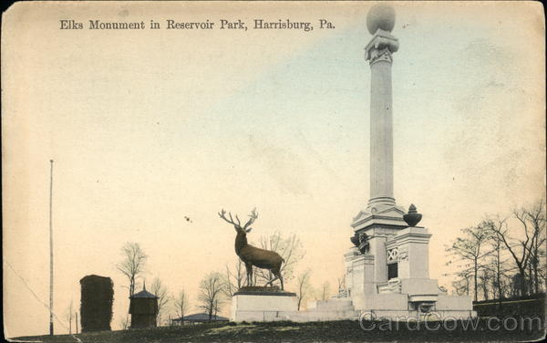 Elk's Monument in Reservoir Park Harrisburg Pennsylvania