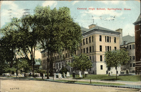 Street View of Central High School Springfield Massachusetts