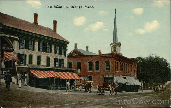 East Main Street View Orange Massachusetts