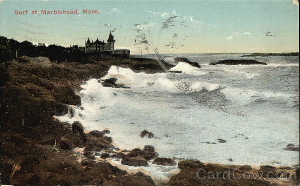 Surf at Marblehead Massachusetts