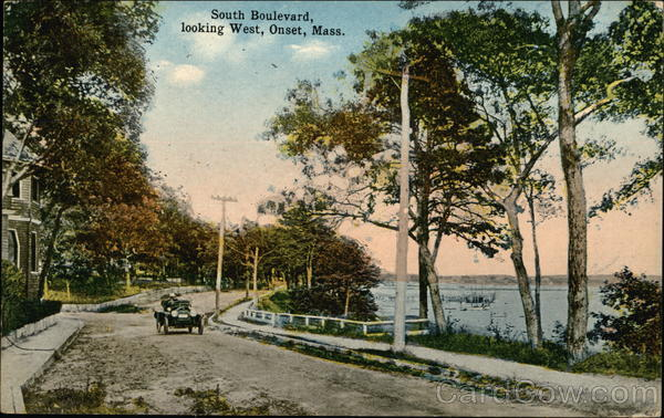 South Boulevard Looking West Onset Massachusetts