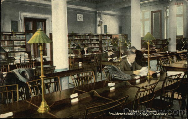 Reference Room, Providence Public Library Rhode Island