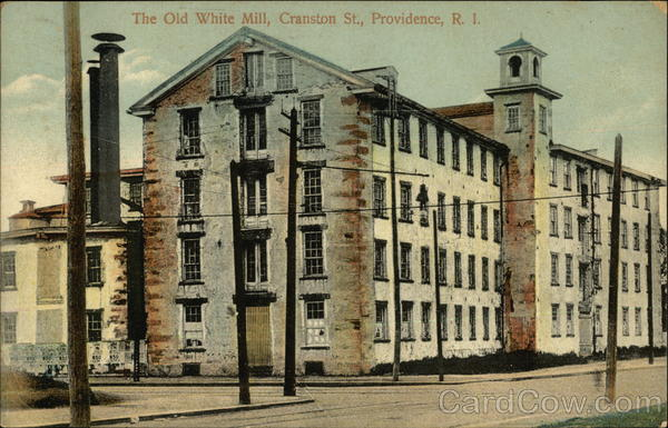 The Old White Mill, Cranston St Providence Rhode Island
