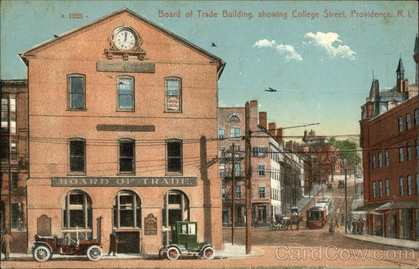 Board of Trade Building Showing College Street Providence Rhode Island