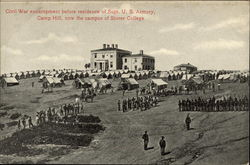 Civil War Encampment Before Residence of Supt. U.S. Armory