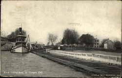 Lock Looking West Postcard