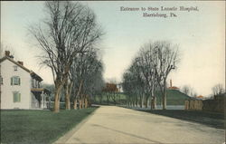 Entrance to State Lunatic Hospital