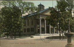Street View of Town Hall Postcard