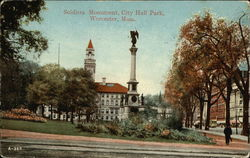 Soldiers Monument, City Hall Park Postcard
