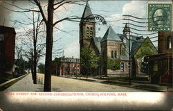 Maple Street and Second Congregational Church