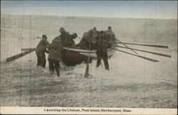 Launching the Life Boat, Plum Island