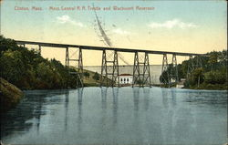 Mass. Central R.R. Trestle and Wachusett Reservoir