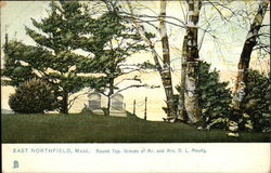 Round Top - Graves of Mr. and Mrs. D. L. Moody Postcard