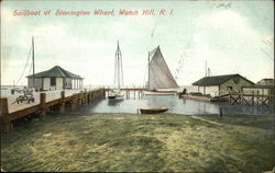 Sailboats at Stonington Wharf