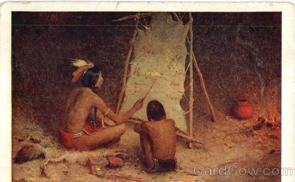 Indians Painting Native Americana