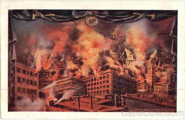 The San Francisco Disaster By Quake And Fire 1906 Disasters
