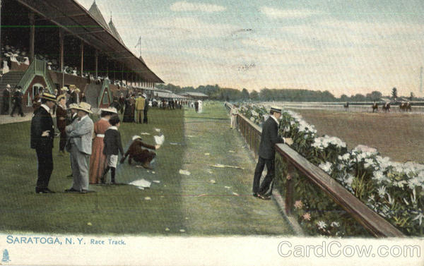Race Track Saratoga New York Horse Racing