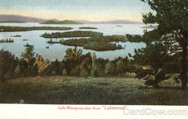 Lake Winnipesaukee From Lakewood New Hampshire