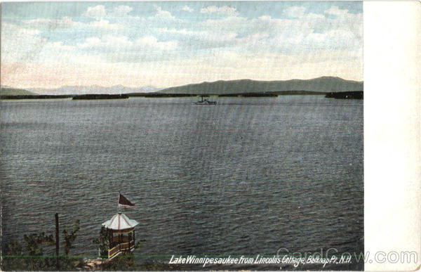 Lake Winnipesaukee From Lincoln's Cottage Belknap New Hampshire