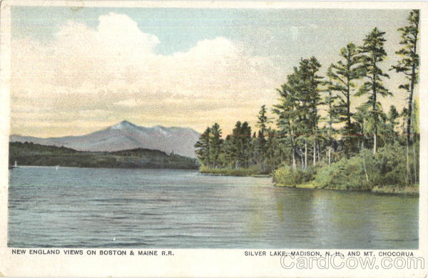 New England View On Boston & Maine R.R, Silver Lake Madison New Hampshire