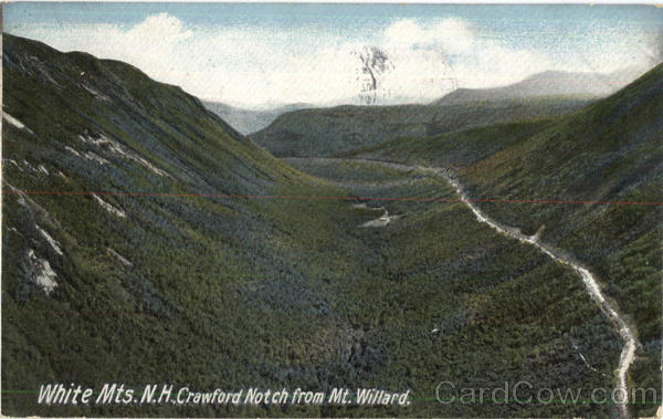 Crawford Notch From Mt. Willard White Mountains New Hampshire