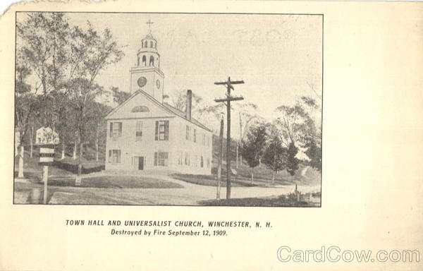 Town Hall And Universalist Church Winchester New Hampshire