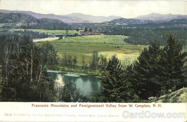 Franconia Mountains And Pemigewasset Valley W. Campton New Hampshire