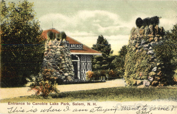 Entrance To Canobie Lake Park Salem New Hampshire