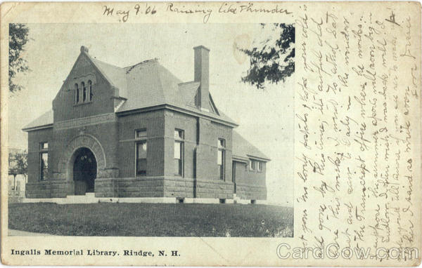 Ingalls Memorial Library Rindge New Hampshire