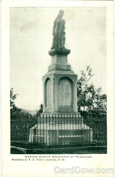 Hannah Dustin Monument At Penacook New Hampshire