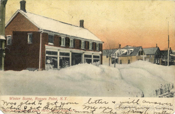 Winter Scene Rouses Point Massachusetts