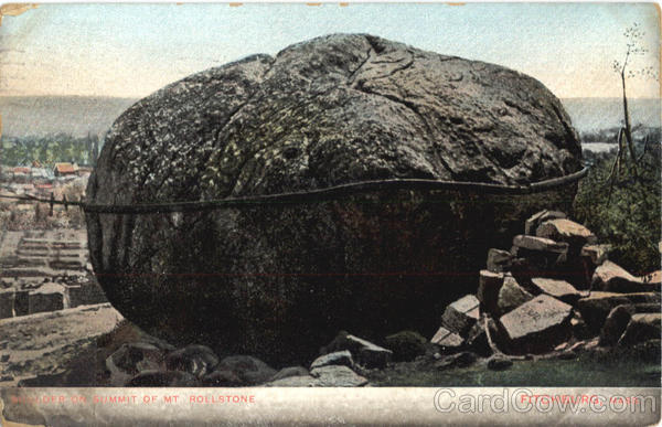 Boulder On Summit Of Mt. Rollstone Fitchburg Massachusetts