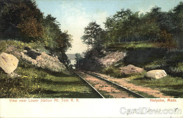 View Near Lower Station Mt. Tom R. R Holyoke Massachusetts
