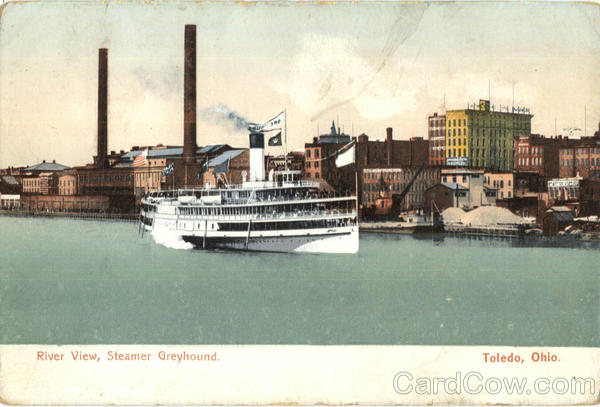 River View Steamer Greyhound Toledo Ohio