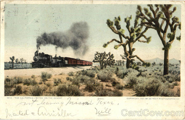 The California Limited On The Desert Trains, Railroad