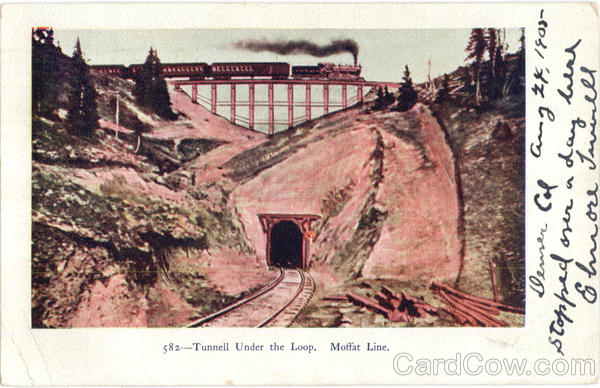 Tunnell Under The Loop Moffat Line Trains, Railroad