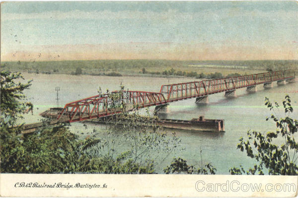 C. B. E2 Railroad Bridge Burlington Iowa