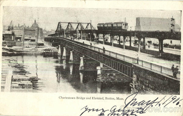 Charlestown Bridge And Elevated Boston Massachusetts