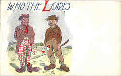 Who The L cares Postcard