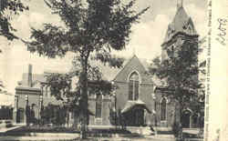 Williston Church Postcard