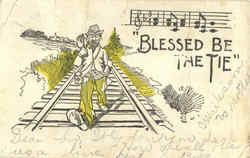 Blessed Be The Tie Postcard