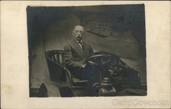Portrait of Older Man in Automobile Cars
