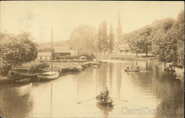 Boating on the River Oulton Broad England