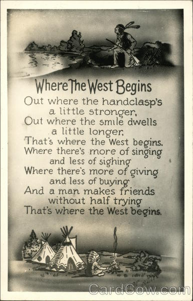 Where the West Begins Cowboy Western