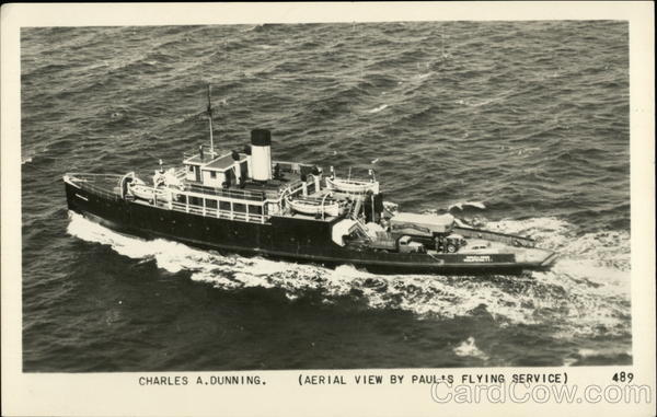 Aerial View of Charles A. Dunning Riverboats