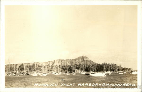 Honolulu Yacht Harbor, Diamond Head Hawaii