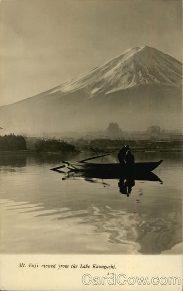 Mt. Fuji Viewed From the Lake Kawaguchi Japan