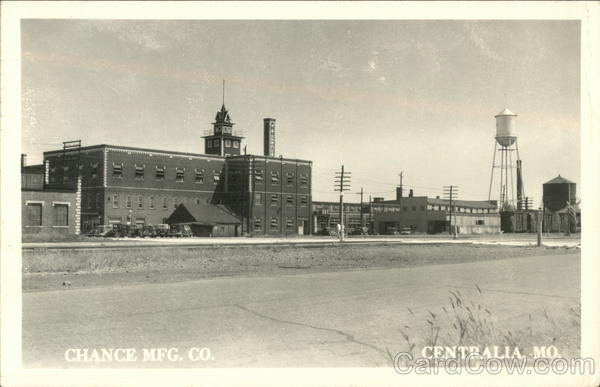 Chance Mfg. Co Centralia Missouri
