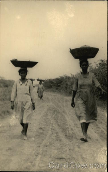 Women With Baskets on Heads Colombia South America